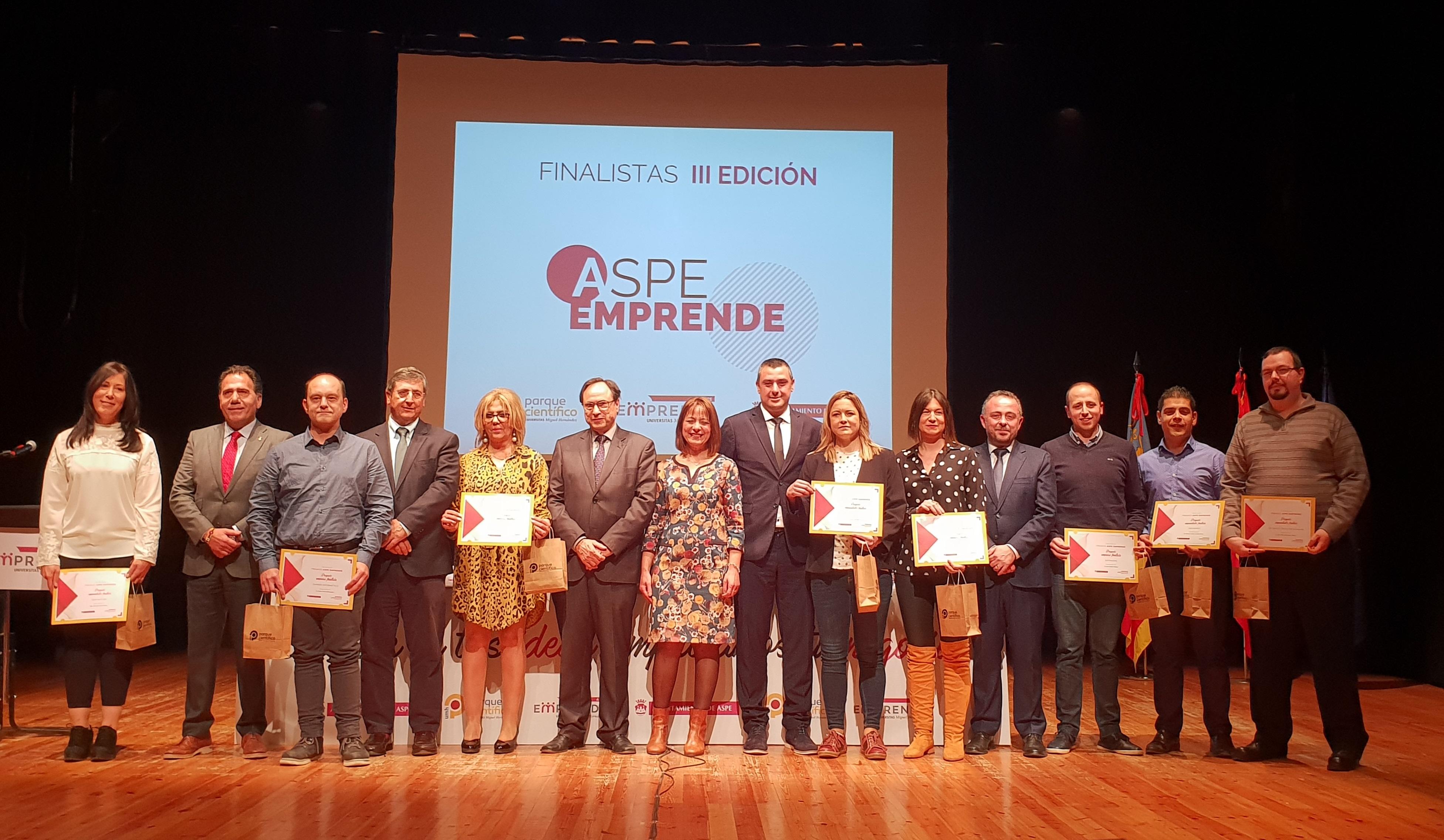 Ya tenemos ganadores de la 3a edición de Aspe Emprende