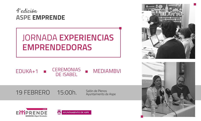 Experiencias emprendedoras inauguran la 4ª edición de Aspe Emprende
