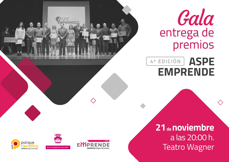 Gala de entrega de premios: 4ª edición de Aspe Emprende