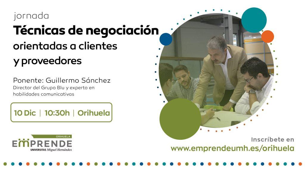 jornada técnicas de negociación ORIHUELA – ORIHUELA EMPRENDE