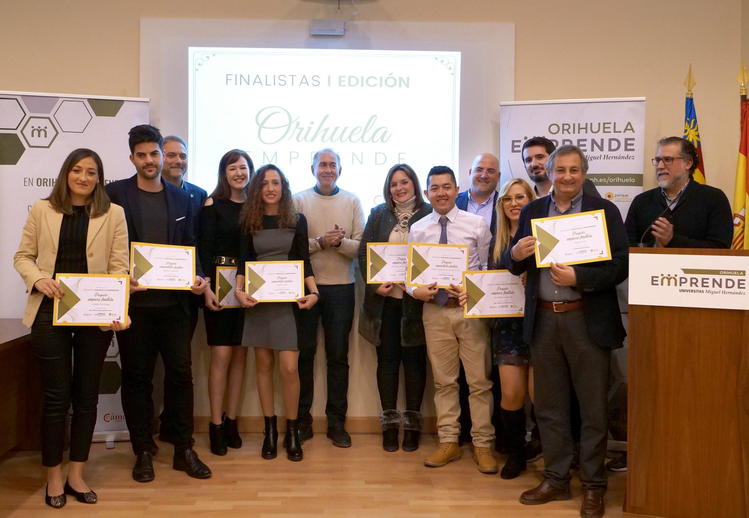 Ganadores de la 1ª edición del programa Orihuela Emprende