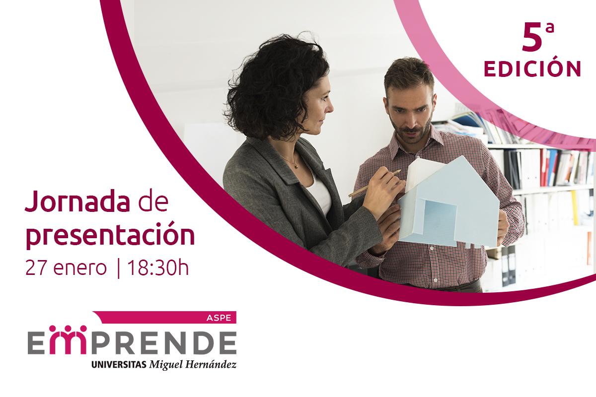 Jornada de presentación de la 5ª edición de Aspe Emprende